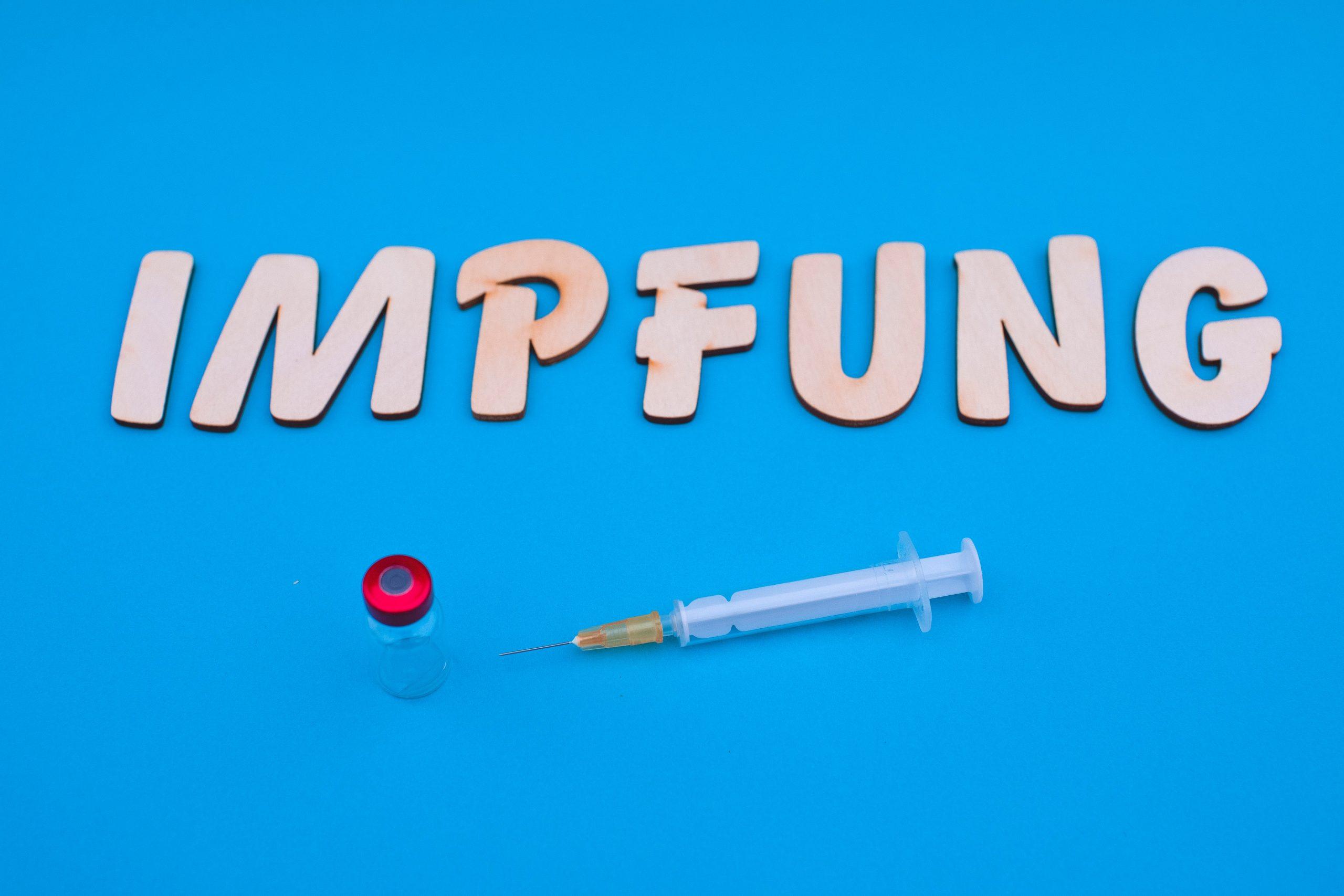 Schriftzug Impfung